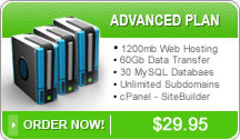 PJR Sales and Service Advanced Web Hosting Plan